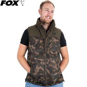 Fox Chunk Camo / Khaki RS Gilet mellény