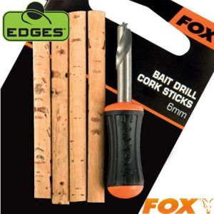 Fox Edges Bait Drill & Cork Stick - Fúró és Parafarudak