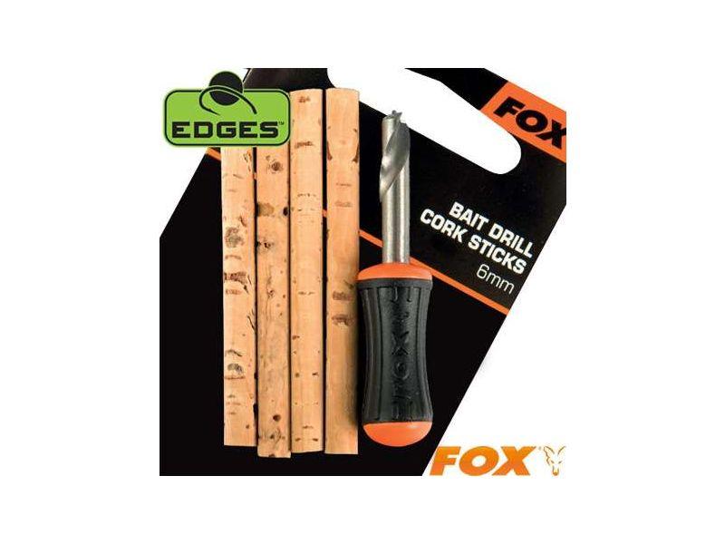Fox Edges Bait Drill & Cork Stick - Fúró és Parafarudak