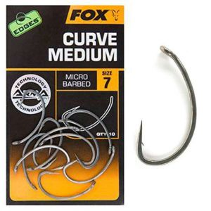 Fox EDGES™ Curve Shank Medium - Bojlis horog