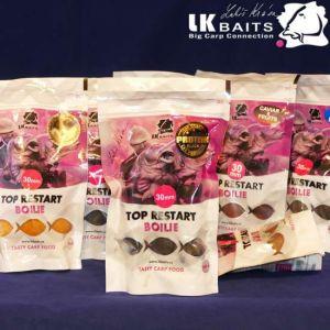 LK Baits Top Restart - csalizó bojli - Black Protein - 250g