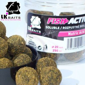LK Baits Fish Activ Oldódó bojli - 20mm - Nutric Acid
