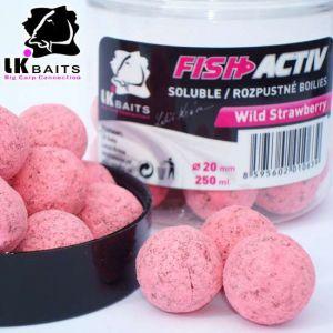 LK Baits Fish Activ Oldódó bojli - 20mm - Wild Strawberry