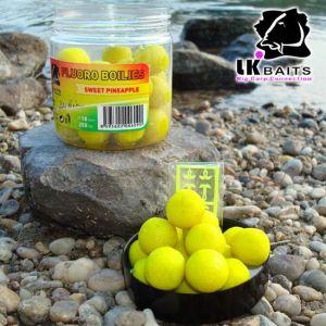 LK Baits Fluoro Boilies - 18mm - 250ml - Sweet Pineapple