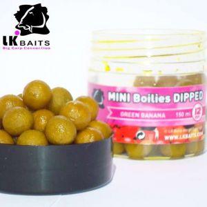LK Baits MINI Boilies in DIP - 12mm - 150ml - GREEN BANANA