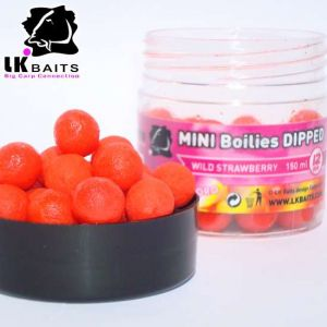 LK Baits MINI Boilies in DIP - 12mm - 150ml - WILD STRAWBERR
