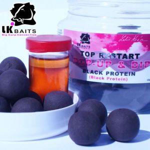 LK Baits POP-UP Top ReStart - Black Protein (18mm, 14mm)