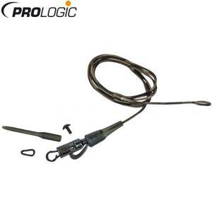 Prologic Safetly Clip QC Link Hollow Leader - 80cm 45lbs - 3