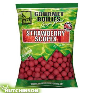 Rod Hutchinson Gourmet Boilies 1kg - Strawberry & Scopex